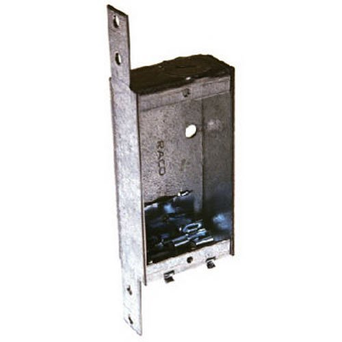 Hubbell-Raco 404 1-Inch Deep Switch Electrical Box, Welded with Side Stud Bracket, (1) 1/2-Inch End Knockout, (2) NMSC Cable Clamps, 3-3/4-Inch x 2-Inch (Boxes Shallow Electrical)