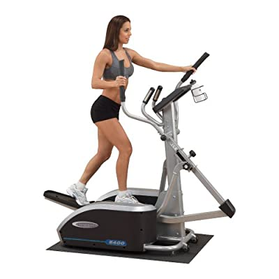 Body Solid E400 Endurance Elliptical Trainer with 5-Readout LED Display and Contact Heart Rate Monitor Adjustable
