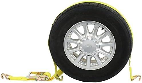 Correa de rueda (solo) W/alambre ganchos y trinquete – Coche para atar: Amazon.es: Coche y moto
