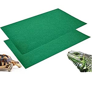 2Pcs Reptile Carpet Terrarium Bedding Substrate Liner Carpet for Lizard, Turtles, Snakes, Bearded Dragon, Iguana…