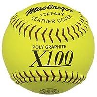 Softballs de lanzamiento lento ASG de MacGregor X44RP, amarillo, 11 pulgadas (una docena)