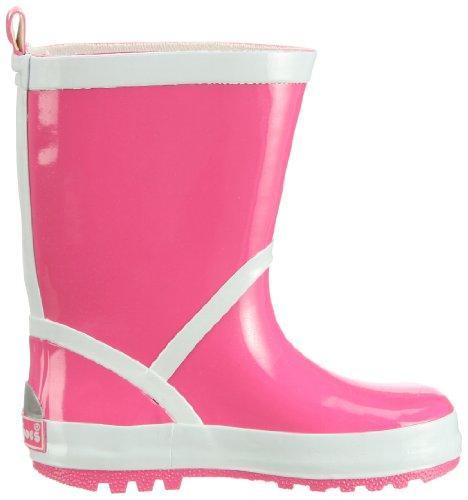 Playshoes Gummistiefel uni mit Reflektorstreifen 184310 Mädchen Gummistiefel Pink (pink 18)