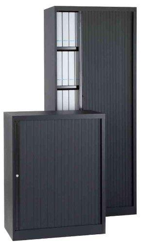 BISLEY Euro Rollladenschrank, 3 Fachböden, schwarz