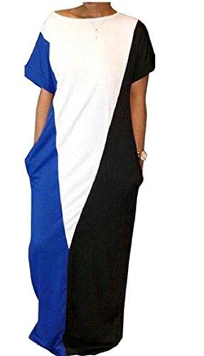 Donne Block Maxi Color Di Club Long Night Casuale Vestito Beach Jaycargogo Vestito Delle 1 p7gwgq