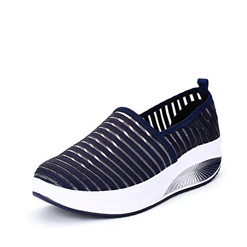 Color Mesh Dimensione Outdoor Scarpe Spesso D 36 Donna per Atletico Fondo Summer Casual Comfort Slip Traspirante Sneakers da On Altezza Aumentare H7TqH4Pw