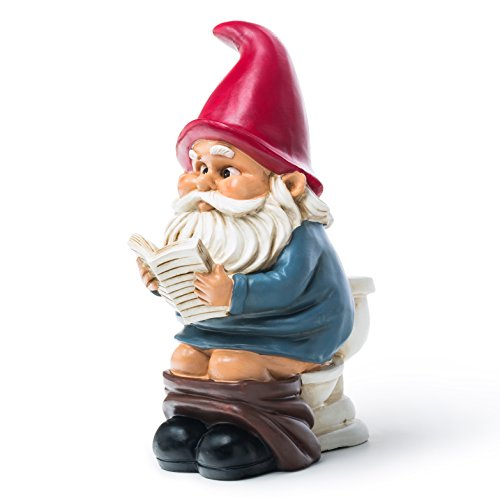 Amazoncom BigMouth Inc Gnome on a Throne Outdoor Statues