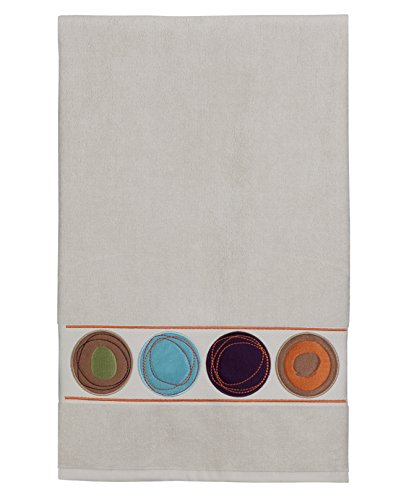 Dot Bath Towels - Creative Bath Products Dot Swirl Embroidered Bath Towel, Multi-Color