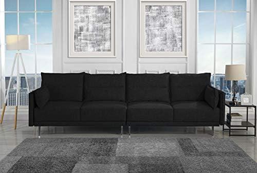 Housel Living HSL387-4S Sofa, Black