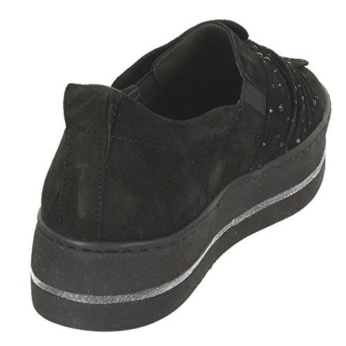 Maripé Plateau Sneaker Aus Veloursleder in Schwarz mp-24944 Schwarz