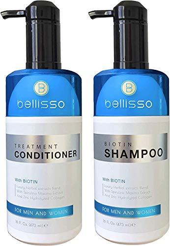 Biotin Shampoo and Conditioner for Hair Growth | Thickening Anti Hair Loss Shampoo Treatment | Regrowth Shampoo & Conditioner for Oily & Color Treated Hair (Best Shampoo And Conditioner For Womens Hair)