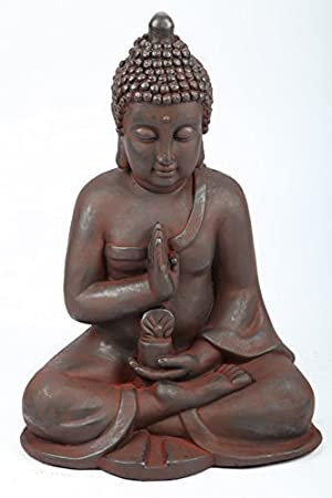 Garden seated Buddha figure 50 cm new in original packaging 139, - point-garden