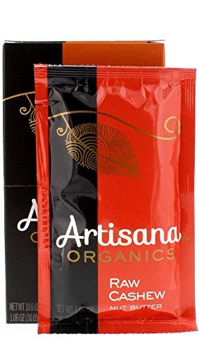 Artisana Organics - Cashew Nut Butter, USDA Organic Certified and Non-GMO Handmade Rich & Thick Spread (10 Packets, 1.06 oz)