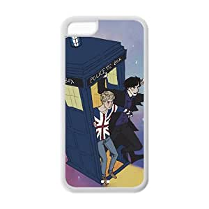 Doctor Who and Sherlock iPhone 5C Case New style Snap On Cover