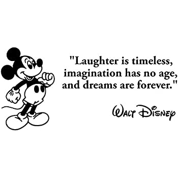 amazoncom laughter is timeless wall decal walt disney