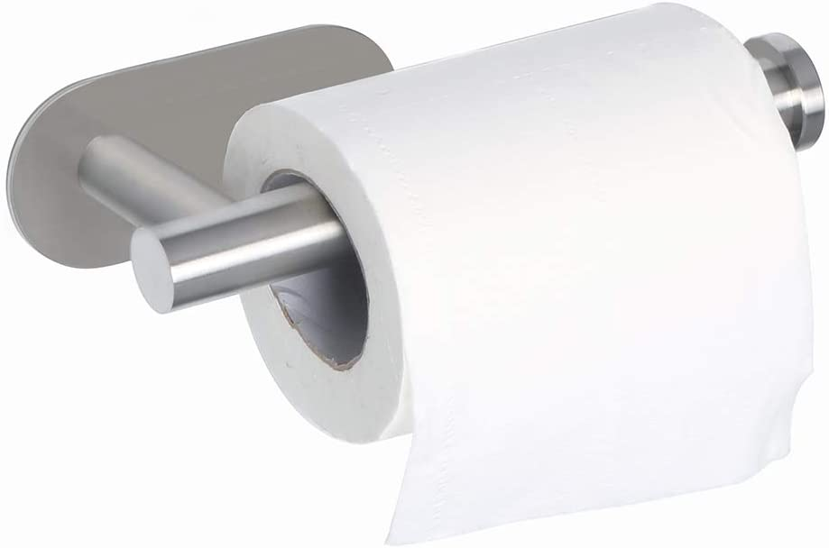 Stainless Steel Toilet Paper Tissue Holder Self Adhesive Roll Paper Rack Mount ~
