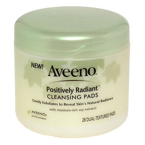 Aveeno Active Naturals Positively Radiant Cleansing Pads 28 Count - 2