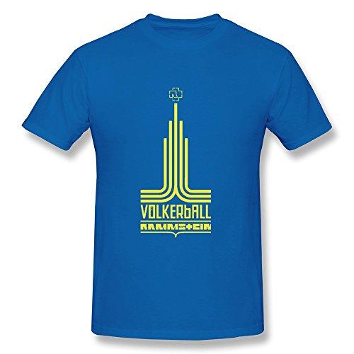 Men's Rammstein Assets Logo T-shirt Size S RoyalBlue