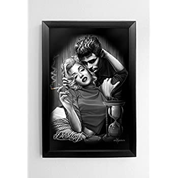DGA Marilyn Monroe And James Dean Wood Frame Canvas Wall Art 24x36 Inches    Destiny Part 30