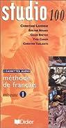 Studio 100 : Méthode de français, niveau 1 (coffret 3 cassettes) par Collectif