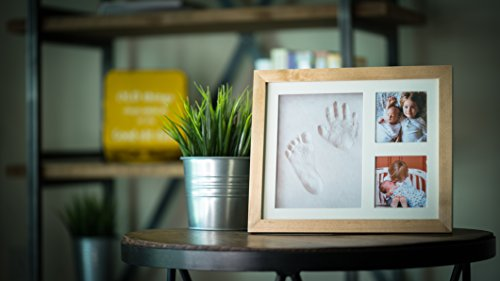 Baby Handprint Footprint Photo Frame Kit by Kubai for Newborn Girls & Boys (Free Date & Name Stamp) Choice of Mats to fit Room Wall Nursery - Mold Free - Best Personalized Gifts for Shower Registry. by Kubai (Image #6)