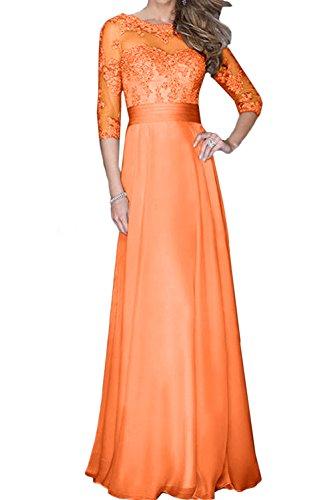 Abendkleider Mit Promkleid Ballkleider Festlich Spitze Orange Aermeln Damen Ivydressing qf1pw