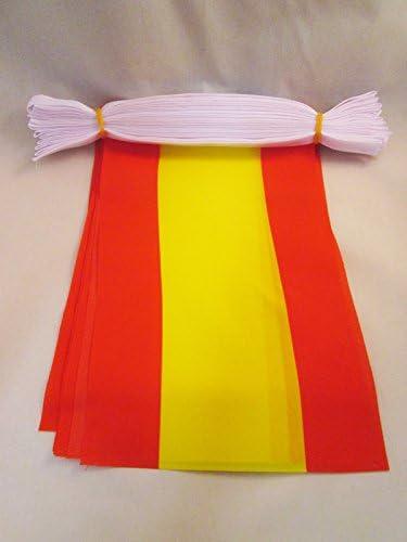 AZ FLAG Guirnalda 6 Metros 20 Banderas de ESPAÑA SIN Armas 21x15cm ...