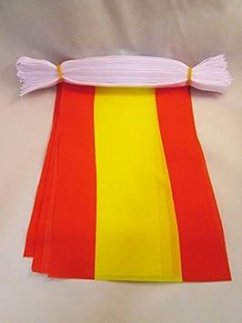 AZ FLAG Guirnalda 6 Metros 20 Banderas de ESPAÑA SIN Armas 21x15cm - Bandera ESPAÑOLA SIN Escudo 15 x 21 cm - BANDERINES: Amazon.es: Hogar