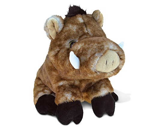 Puzzled Wild Boar Super-Soft Stuffed Plush Cuddly Animal Toy - Animals Theme - 7 INCH - Unique Huggable Loveable New Friend Gift - Item #5328