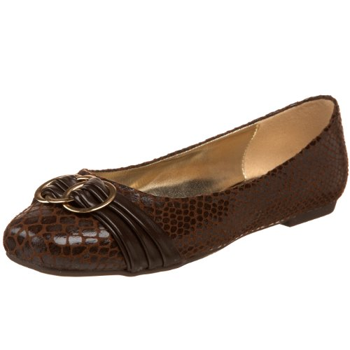 Pierre Dumas Womens Paula-2 Flat Brown