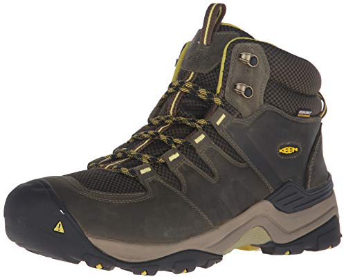 KEEN Men's Gypsum II Mid Waterproof Shoe, Forest Night/Warm Olive