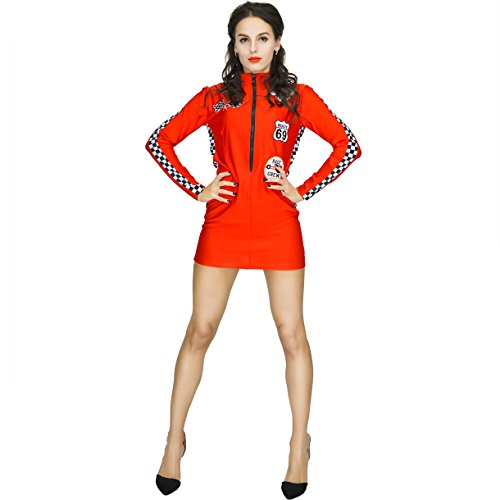 Adult Racer Girl Costume (S,M,L) (S)