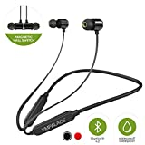 Wireless Bluetooth Headphones 4.2 Magnetic IPx6 Sweatproof Noise Cancelling Earbuds with Mic Stereo