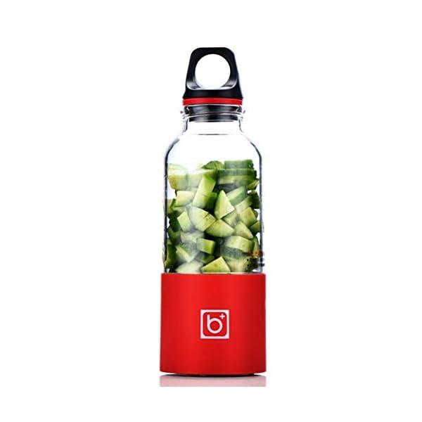 ZZJ Juicer 500 Ml Portatile Elettrico Tazza Di Spremiagrumi Usb Ricaricabile Automatico Di Verdure Estrattore Di Succo Di Frutta Bottiglia Estrattore Di Succo, Rosso 1 spesavip