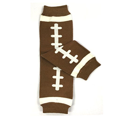 - Bowbear Adorable Designs Baby Leg Warmers, Brown Football