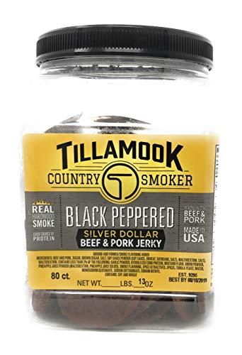TILLAMOOK Silver Dollars - Beef & Pork Jerky (Peppered),13oz ()
