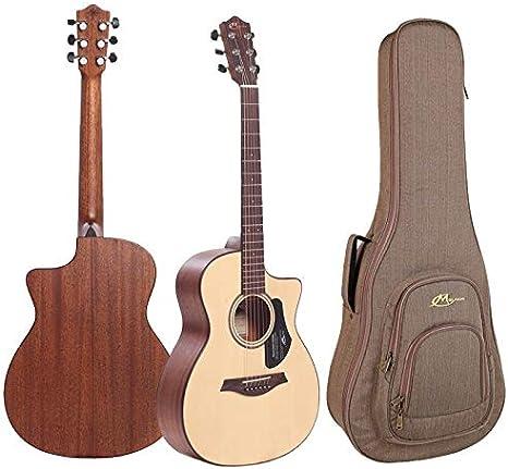 Guitarra Acústica Mayson ATLAS E - Mini Jumbo Mate - Incluye Funda ...