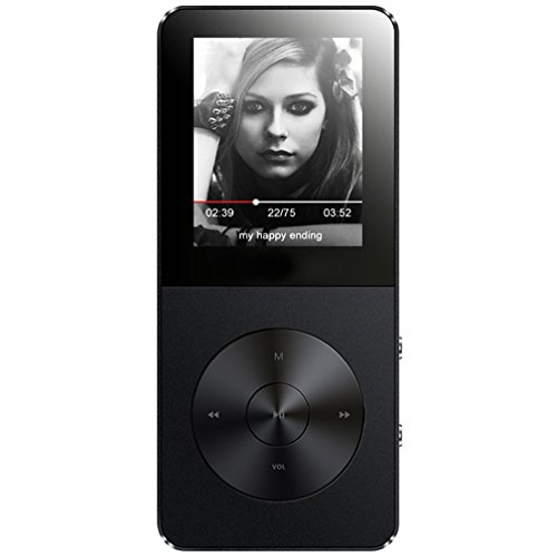 MP3 Player, Music Players - FecPecu Updated Version 8GB Hi-Fi Sound 35 Hours Playback , Portable Audio Player Build-in Speaker With Voice Recorder and FM Radio Expandable Up To 64GB (Black)