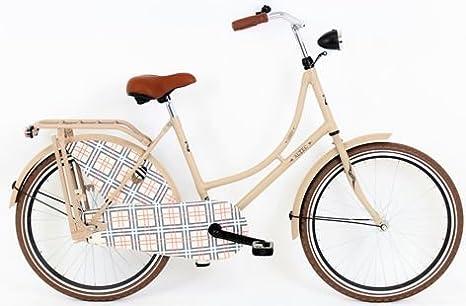 Hoop Altec London – Bicicleta para mujer 24 pulgadas crema + freno de mano delantero): Amazon.es: Deportes y aire libre