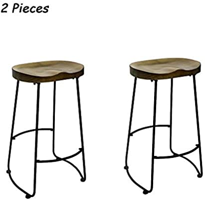 Fine Amazon Com Yaolanq Set Of 2 Bar Stools Industrial Style Short Links Chair Design For Home Short Linksinfo