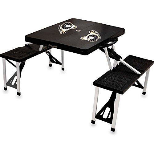NCAA Virginia Commonwealth University Rams Digital Print Picnic Table Sport, Black, One Size by PICNIC TIME