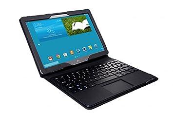 SonnyGoldTech - Funda con teclados y panel táctico para Samsung Galaxy Tab Pro 12.2 | Teclado