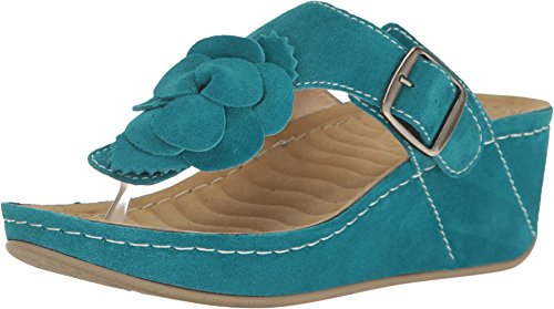 David Tate Womens Slide - David Tate Women's Spring Teal Suede 9 Wide US