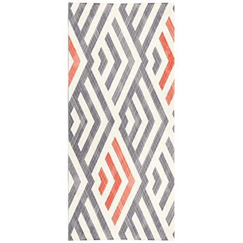 Soopat Beach Towel,Abstract Striped Geometric Retro Colors Pattern Can Tile Wallpaper 30x60 Inch Outdoors Sand Free Beach Blanket for Travel Sports Beach Yoga Water Park
