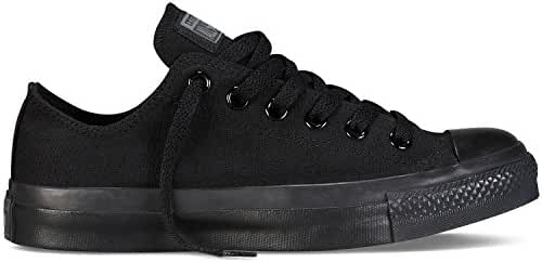 Converse Unisex Chuck Taylor All Star Low Top Black Monochrome Sneakers - 4.5 D(M) US