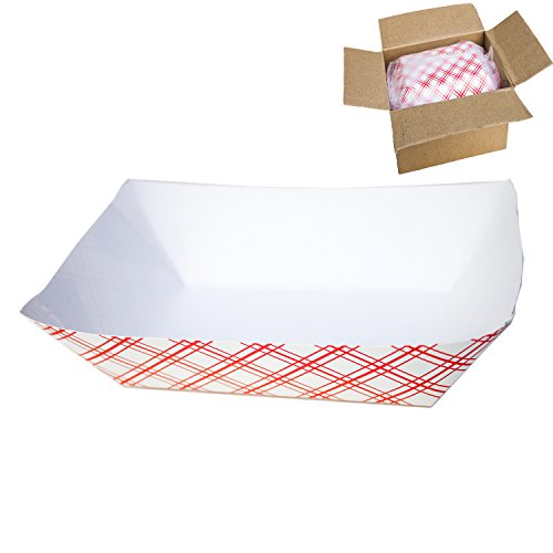 Disposable Paper Food Tray for Carnivals, Fairs, Festivals, and Picnics. Holds Nachos, Fries, Hot Corn Dogs, and