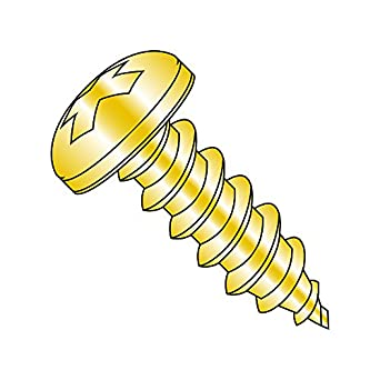 Small Parts 0805ABPPY Yellow Zinc Plated Finish Pack of 100 Phillips Drive 5//16 Length Steel Sheet Metal Screw #8-18 Thread Size 5//16 Length Type AB Pack of 100 Pan Head