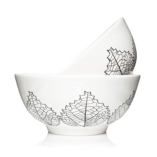 Oatmeal Dinner (Large bowls for serving individual salad, soup, pasta. Stackable and easy clean set of 2. (By LoveMyBigBowl))