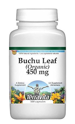 Buchu Leaf (Organic) - 450 mg (100 Capsules, ZIN: 512122) (Buchu Leaves)