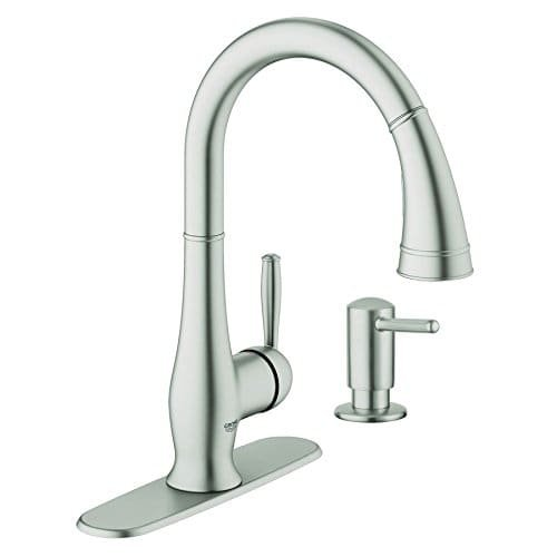 Grohe Wexford Supersteel Kitchen Faucet W/soap Dispenser 30216dc1 by GROHE