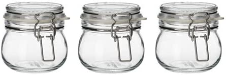 Ikea KORKEN - Botes con Tapa de Cristal Transparente (13 cl), 3 ...